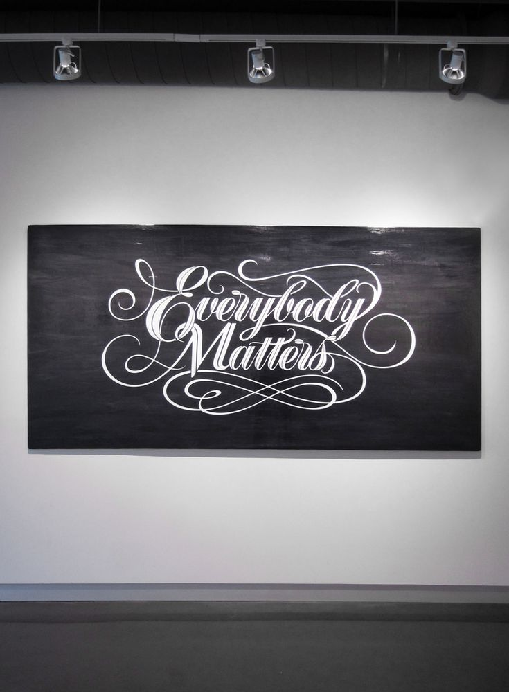 Would actually make a pretty good tattoo! Everybody Matters — Bryan Patrick Todd