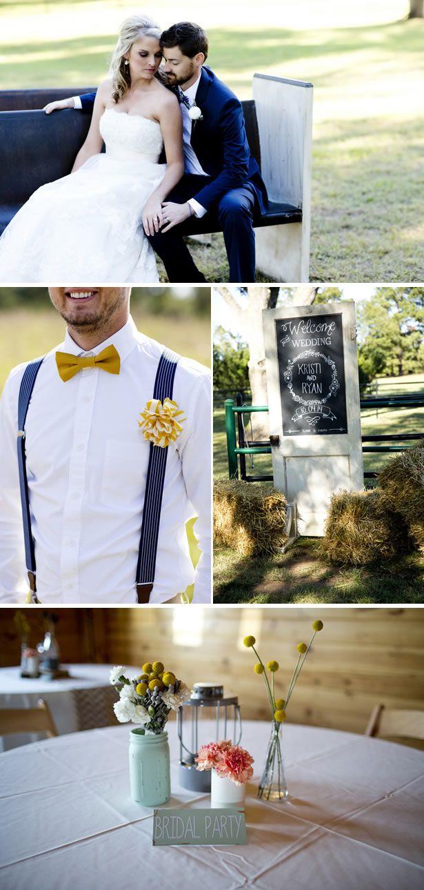 Handmade Gray And Yellow Fall Farm Wedding In Georgia