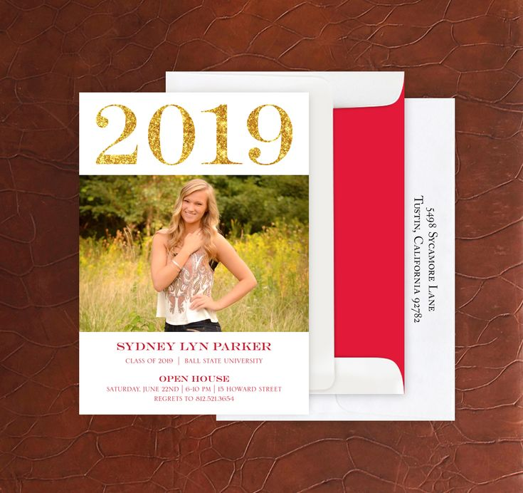 Graduation Invite Custom Photo Cards  Grad Announcement  4082