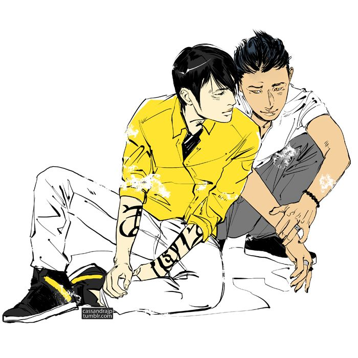 A wonderful picture of Alec and Magnus by Cassandra Jean