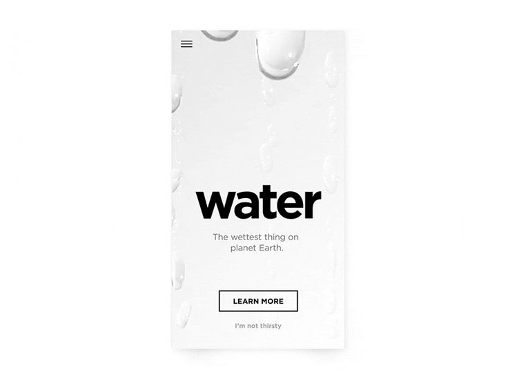 Water introduction mobile - Experiment by Bilal Mechairia
