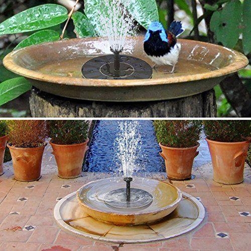 Floating Solar Powered Bird Bath Fountain Pump Portable