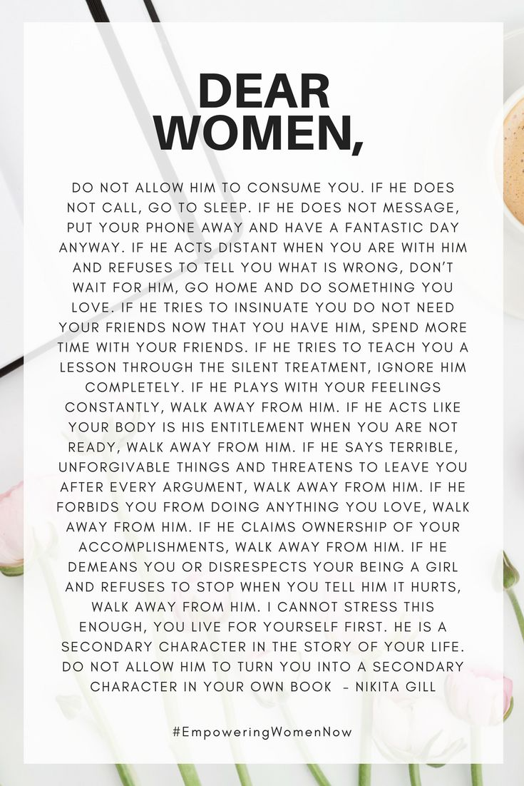 Advice every woman and girl needs to know! #empoweringwomennow #empoweringquotes #quotesforwomen