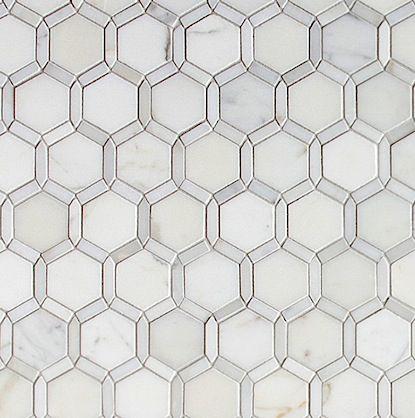 Walker zanger tangent stone mosaic lattice honed for Walker zanger