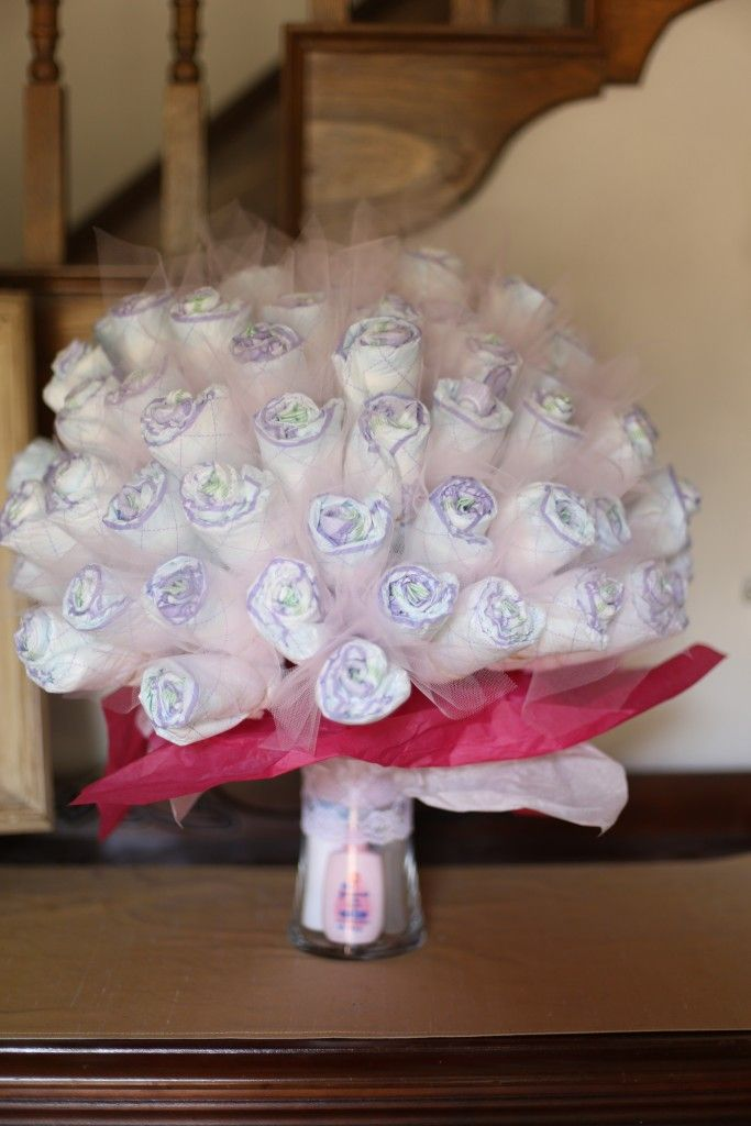 Best diaper bouquet ideas on pinterest baby shower
