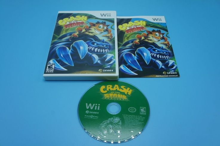 Crash of the Titans - Nintendo Wii Video Game with Booklet VERY GOOD CONDITION #Sierra