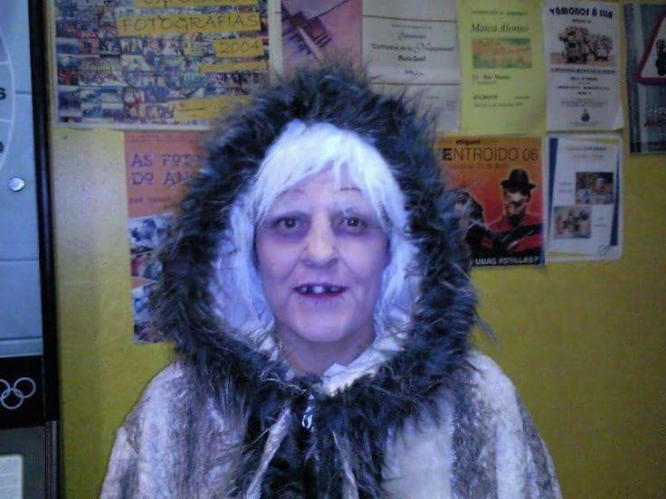 Disfraz esquimal.  #disfraz #carnaval #costume #eskimo #makeup #esquimal