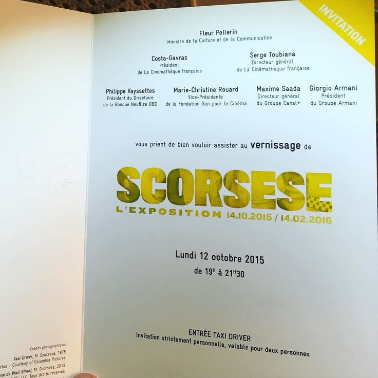 An invitation to the #martinscorsese exhibit at the French Cinematheque!#filmmaking #director #screenwriting #filmediting #taxidriver #robertdeniro #ragingbull #meanstreets #goodfellas #theaviator #wolfofwallstreet #leonardodicaprio #harveykeitel by jogroadproductions
