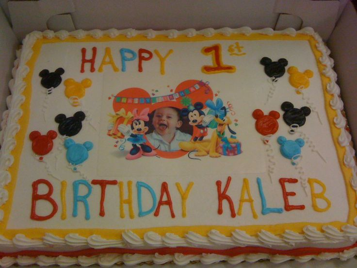 Mickey Mouse Edible Images Mickey Mouse Sheet Cake 1st