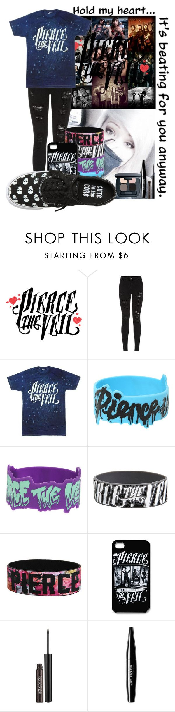 """Pierce The Veil Tribute (Read The D. NOOOWWW)"" by temper61 ❤ liked on Polyvore featuring ADAM, Parisian, MAKE UP FOR EVER and Bare Escentuals"
