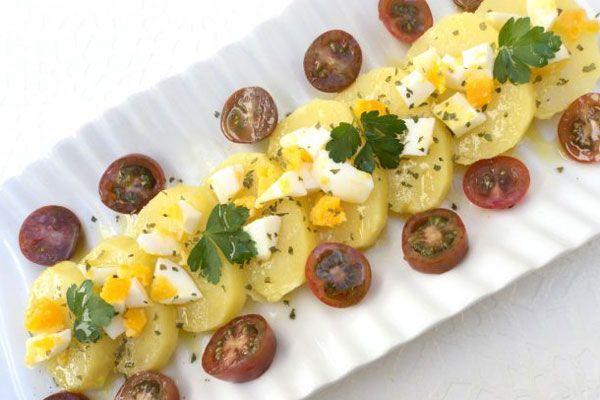 Ensalada de patatas y huevo - receta - Con Cuchillo y Tenedor