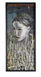 Susanna Salama, Olen Ollut Surullinen, 114 x 50, Oil on paper / The Art of Basware 2006