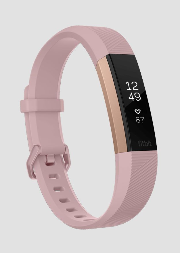 The slim new Fitbit Alta HR in blush & rose gold