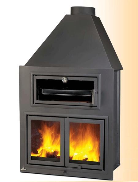 Hogar de le a con horno mm ah80 para su instalaci n en chimeneas abiertas incluye amplio horno - Parrillas y hornos a lena ...