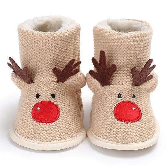 Reindeer Baby Christmas Shoes | Etsy in