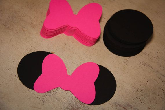 24 DIY Minnie Ears Sets w/ Solid Bow by EmelleeGifts on Etsy
