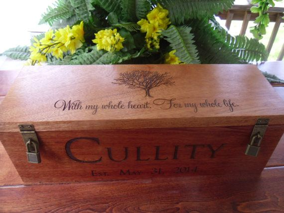 Wedding Wine Box Wedding Gift Wine Box Rustic Wedding Wine