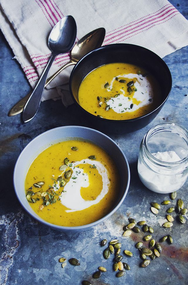 Härlig enkel höstsoppa – het butternutsoppa med ingefära och rostade pumpafrön | Hur bra som helst - Hanna Göransson | Bloglovin'
