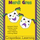 Mardi Gras Activity Pack Includes:Mardi Gras Uppercase Alphabet CardsMardi Gras Lowercase Alphabet CardsMardi Gras Number CardsMardi Gras Card...