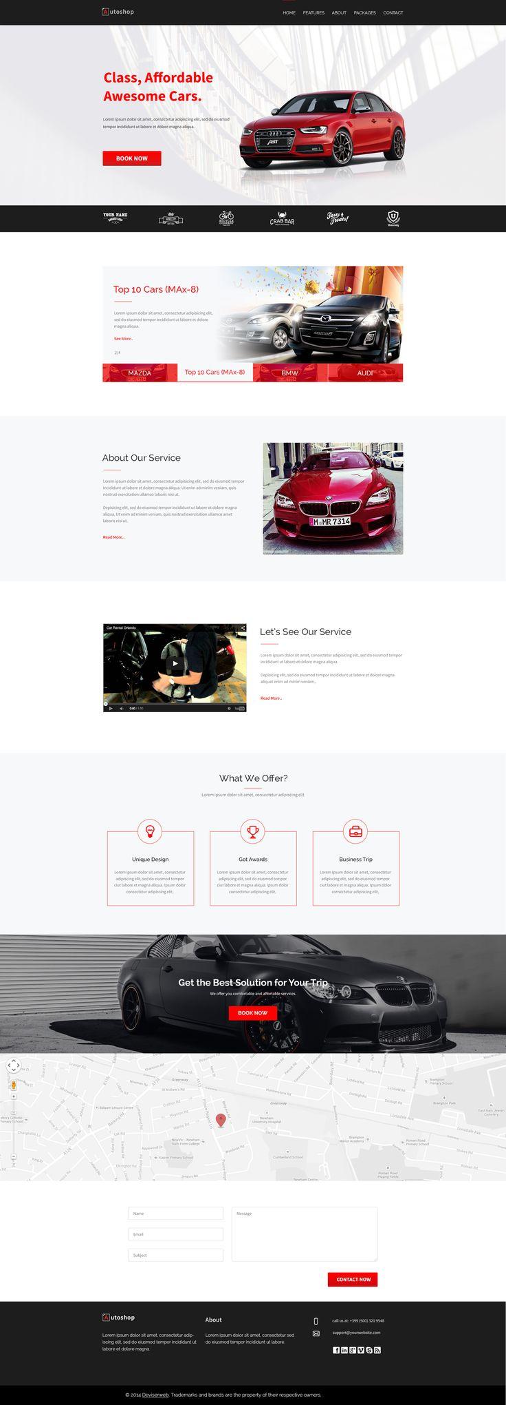 Car Rental Landing Page Design