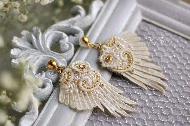 """Купить серьги """"Царевна лебедь"""". Свадебная коллекция. - лебедь, лебеди, Лебединое озеро, свадебная коллекция"""
