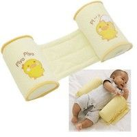 Wish | Baby Sleep Positioner Prevent Flat Head Shape Anti Roll Pillow (Color: Yellow)