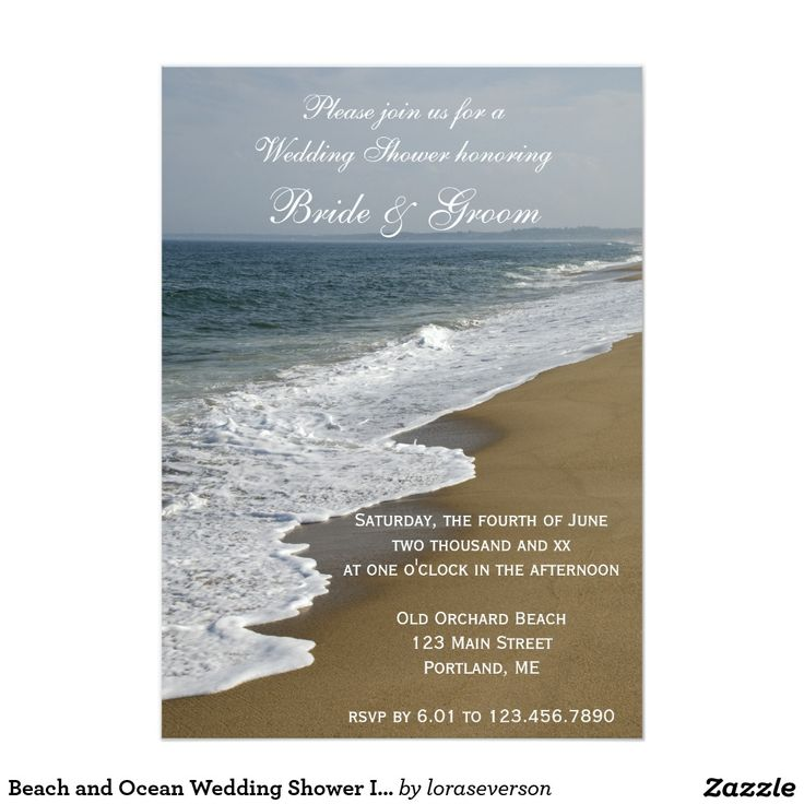 beach wedding invitation samples%0A Beach and Ocean Wedding Shower Invitation