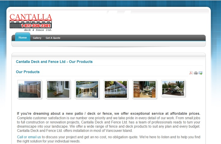 My second client I didn't know that sought me out - Cantalla Deck & Fence Ltd. (ah memories...)