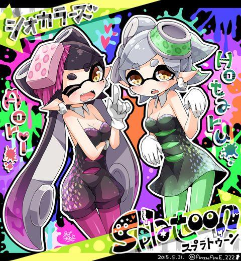 「シオカラーズ!」/「杏飴@こめこん[こ01・02]」のイラスト [pixiv] #SquidSisters #Callie #Marie