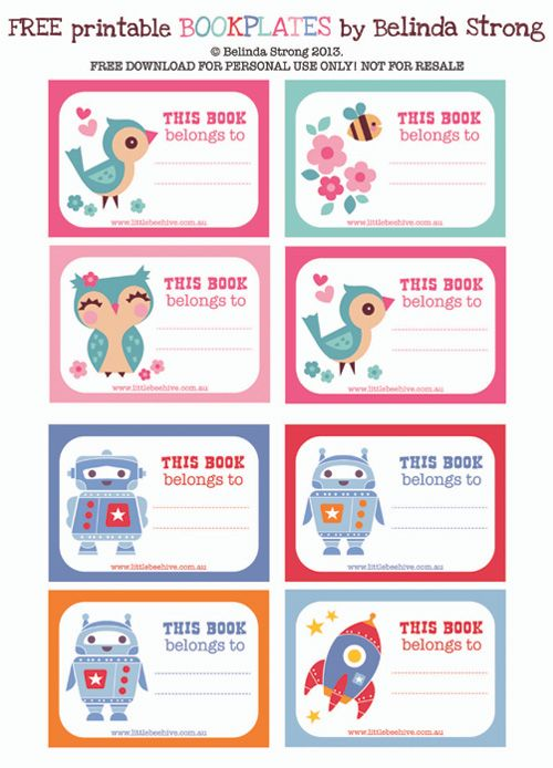 Best Kids  School Labels Printables And Templates Images On