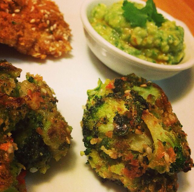 Hemsley and Hemsley's exquisite broccoli fritters and avocado dip
