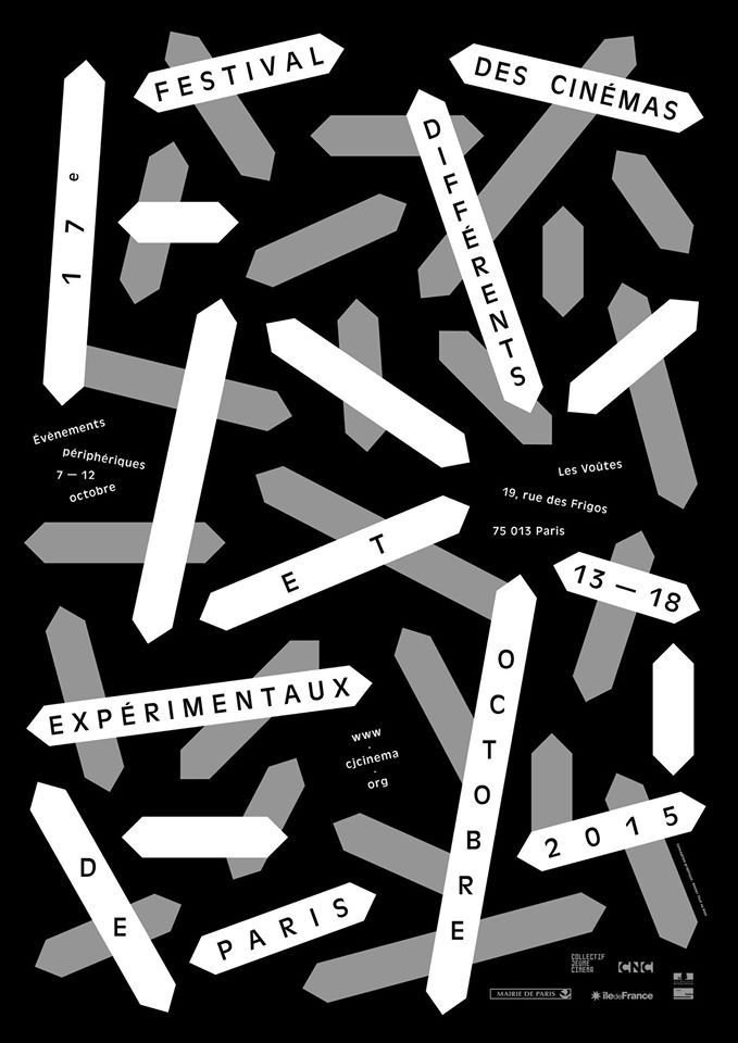 Atelier Tout va bienPoster for the 17th Paris festival for different and experimental cinemas, 2015