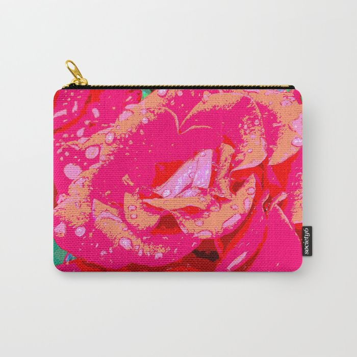 Rose Carry-All Pouch by LisaMc | Society6