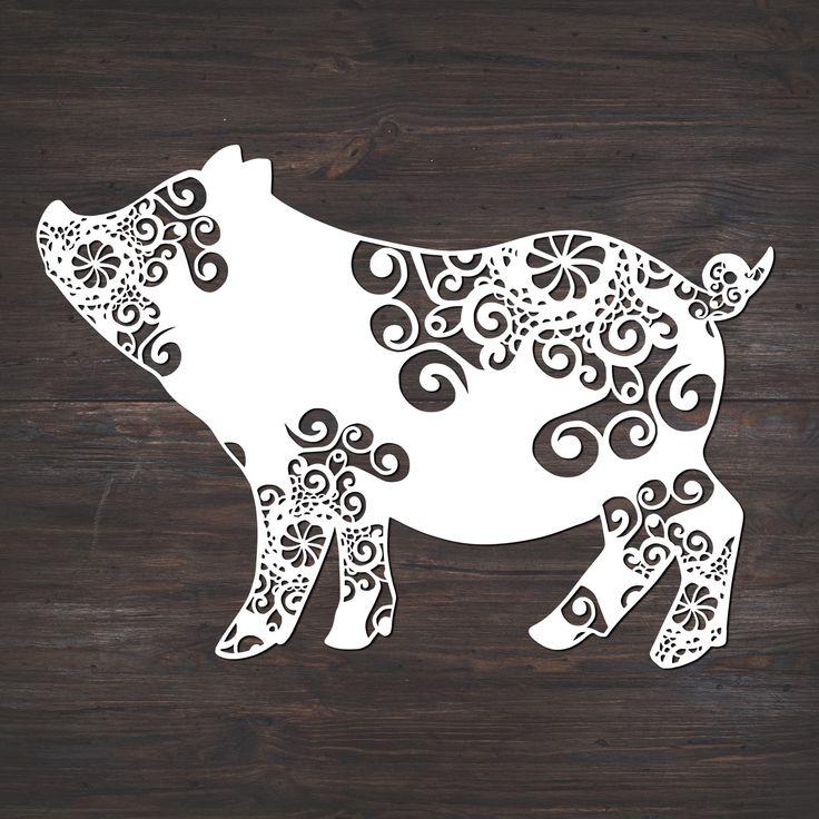 Download Pig Svg, Mandala Svg, Pig Mandala Svg | Svg files for ...