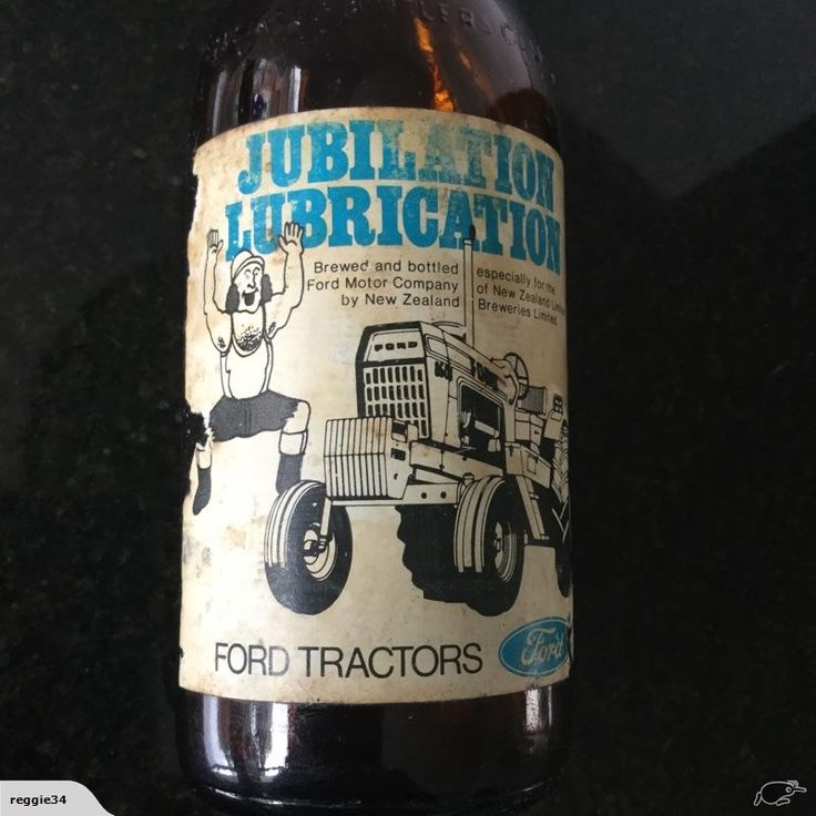 A special brew from New Zealand Breweries to promote Ford Tractors.