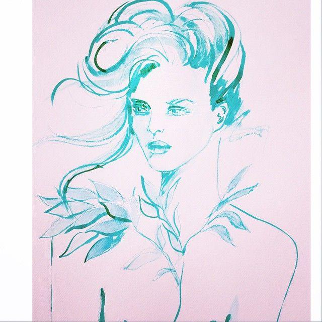 sunday sketch #sketch #sketchbook #sketchoftheday #artoftheday #artofdrawingg #drawing #watercolor #green