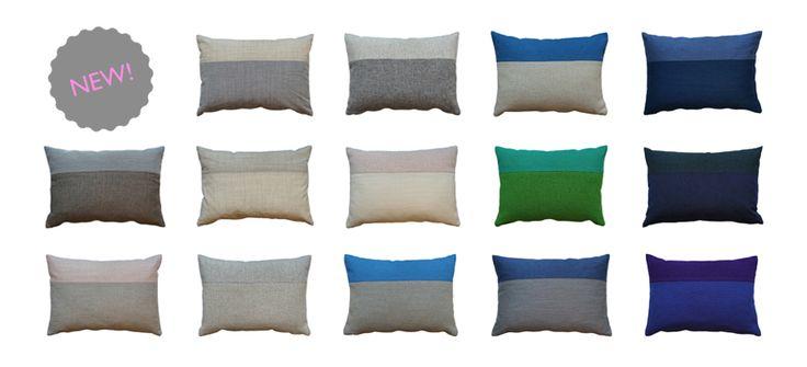 """""""fuenfstück"""" Designer Sofa Kissen aus Kvadrat Stoff, 100% Wolle. In den Farben Grau, Blau, Rosa, Grün, Violett. I """"fuenfstück"""" Designer sofa cushions. From the high quality Kvadrat textile in grey, blue, rose, green, violet."""
