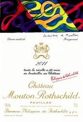 Do YOU know who's the artist who has designed the Chateau Mouton Rothschild 2011 label?  No!? Then come take a look at.....  http://www.wijngekken.nl/2013/11/23/de-etiketten-van-chateau-mouton-rothschild-2011/