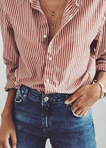 stripped shirt with skinny jeans