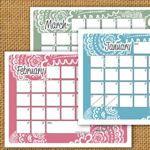 tons of super cute printable calendars!