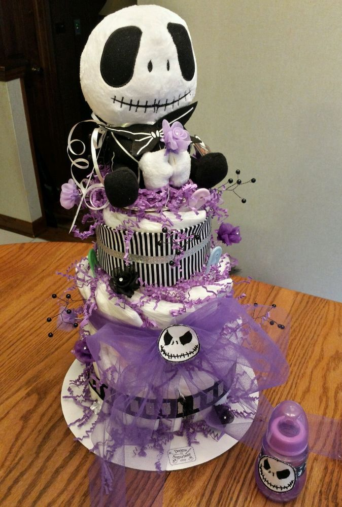 Diaper Cake Nightmare Before Christmas SkellinGToN FaBuLouS Baby Shower GifT