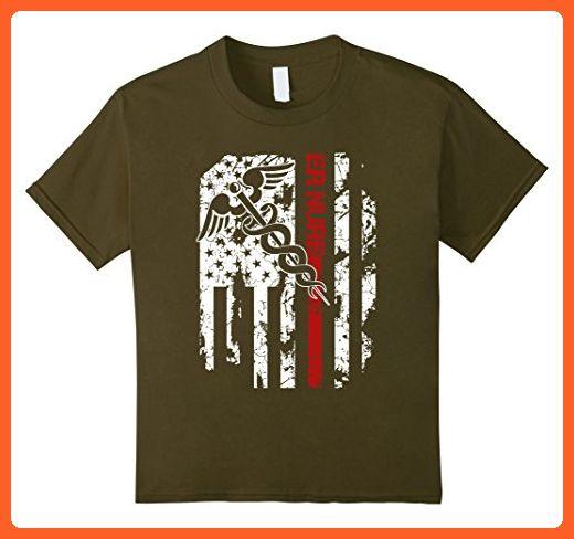 Kids ER Nurse Shirt - ER Nurse Funny Tshirts 8 Olive - Careers professions shirts (*Partner-Link)