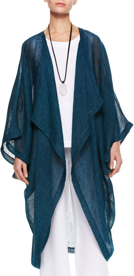 eskandar Cocoon Coat, Marine - sold out, but love.