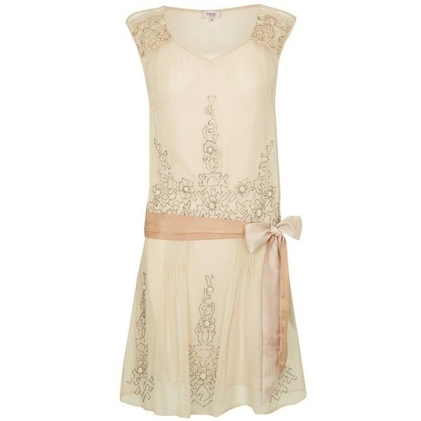 Great gatsby / Short 20s Flapper Style dress - from Hoss Intropia ❤ liked on Polyvore