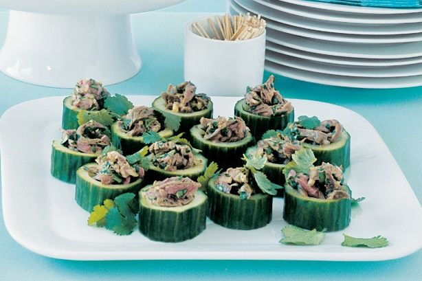 Hand these delicious little cucumber cups around at your next cocktail party.