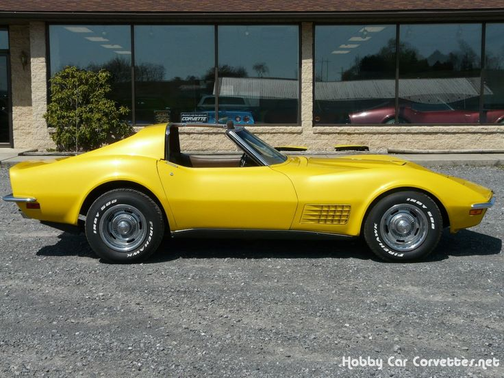 1971 Sunflower Yellow Corvette Our First Vette Was This