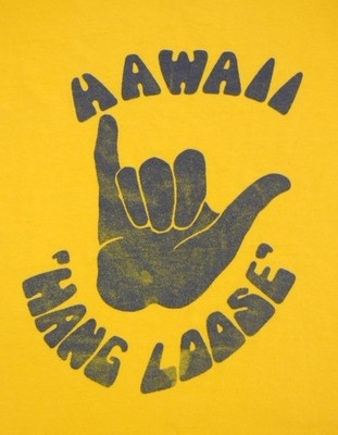 Hang Loose Vintage Hawaii poster