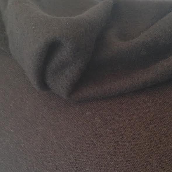 Organic Cotton Fleece - Black MADE IN CANADA (6005.21.00.00)