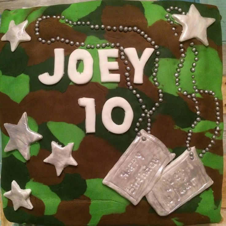 Army cake, leger taart, army birthday cake