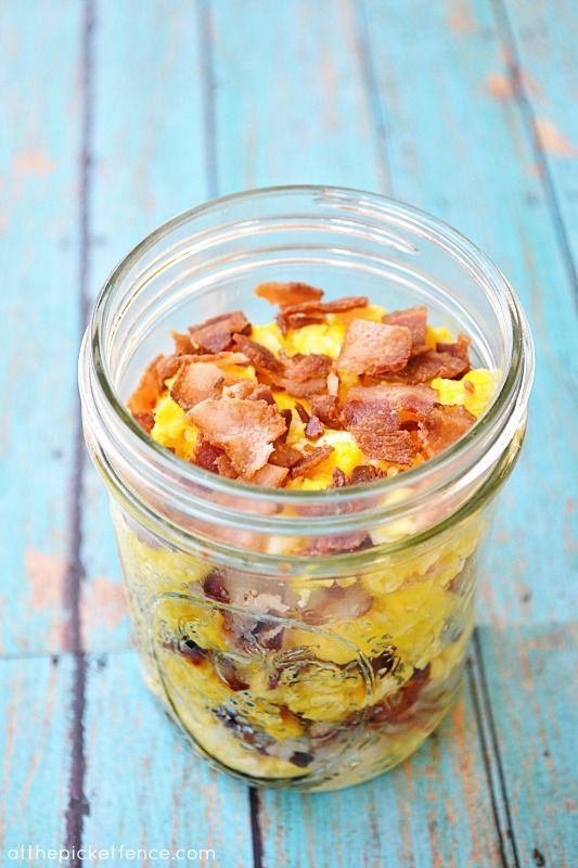 breakfast-to-go in a mason jar ... love this idea for a picnic brunch or to take breakfast to a new mom